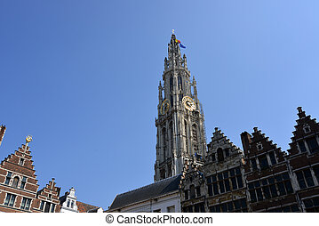 The cathedral of Antwerp - Historic buildings in the city of...
