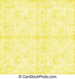 Seamless Vintage Pale Yellow Floral - Worn pastel yellow...