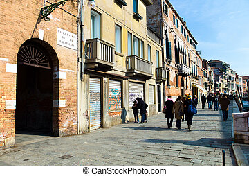 italy, venice - a unique view of the city vendig in italy.