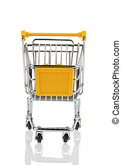 shopping cart - an empty shopping cart on white background....