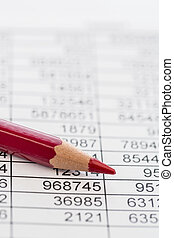 statistics and tables - a table with the figures of revenue...
