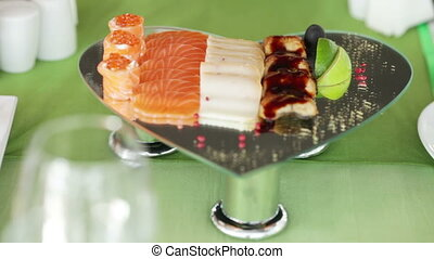 Fish and meat dish - Beautifully served with fish and meat...