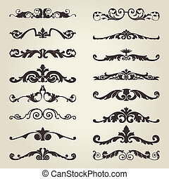 Vintage decorative elements - The vector image of Vintage...