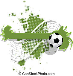 soccer background - illustration, soccer ball on abstract...
