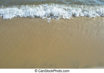 Sand and water background - Shiny beach background with sand...