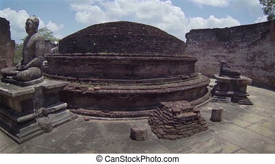 Ruined Buddhist temple complex - Landmarks of Sri Lanka....