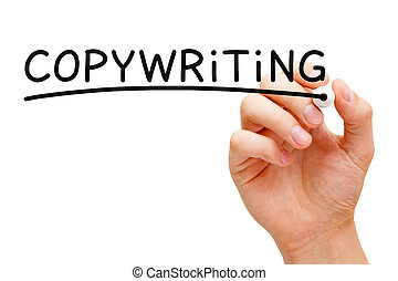 Copywriting - Hand writing Copywriting with black marker on...