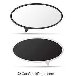 3D bubble talk blackboard. Design element , Illustrator...