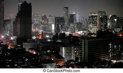 Panorama of night city - Thailand