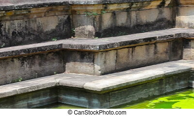 Medieval stone pools. Sri Lanka - Video 1920x1080 - Medieval...