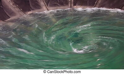 Man-made huge whirlpool