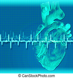 Abstract health and medical backgrounds with human heart