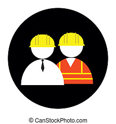 builder icon on black circle