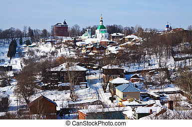 historical district at Vladimir - view of historical...