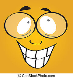 happy face on yellow background