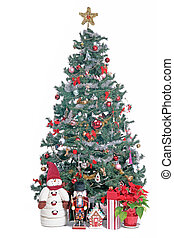 Cristmas tree - Christmas spirit, decorated tree with gifts...