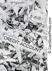 shredded paper credit account - shredded paper tagged with...