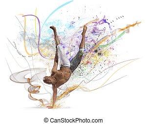 moderno, bailarín