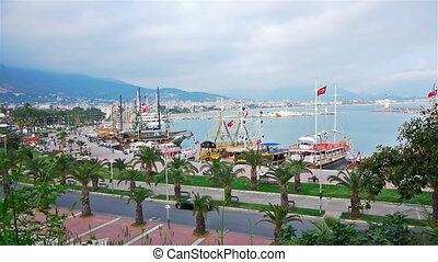 Panoramic view to Alanya, Turkey