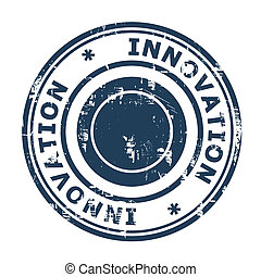 Business innovation concept stamp