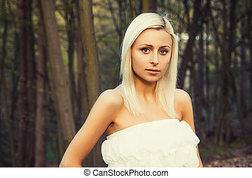 A young caucasian woman