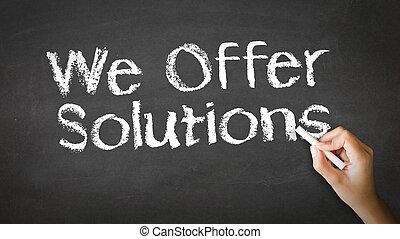 We offer Solutions Chalk Illustration