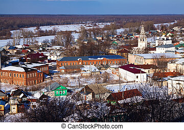 Gorokhovets in winter. Russia - Panoramic view of...