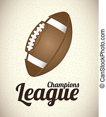 american football over beige background. vector illustration
