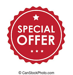 special offer over white background vector illustration