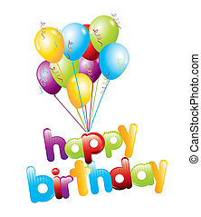 happy birthday design over white background vector...