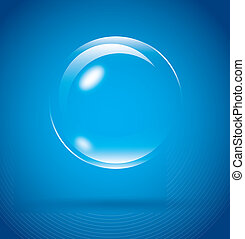 bubble design over blue background vector illustration