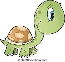 Cute Turtle Vector Art