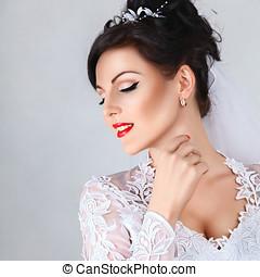 Beauty portrait of bride