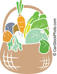 Vegetable Basket Stencil