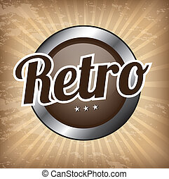 retro background over vintage background vector illustration...