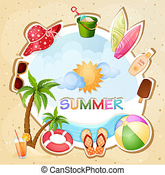 Summer holiday illustration