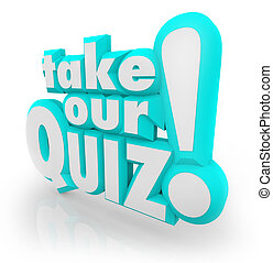 Take Our Quiz 3D Letters Words Assessment Test - The words...