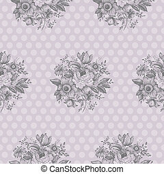 Classic Floral Seamless Pattern - Seamless pattern design...