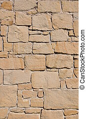 Sandstone wall - Background of stone wall from sandstone
