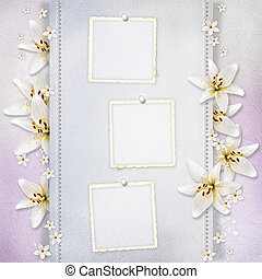Wedding background with flowers for congratulations and...