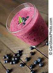 blueberry milk shake, summer beverage