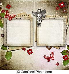 Vintage framework for invitation or congratulation