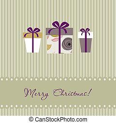 Christmas gift box. Christmas background