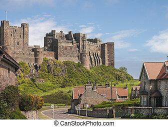Old English Castle Bamburgh Northumberland UK