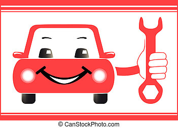 background for auto service station - red background for...