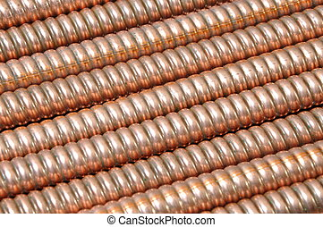 Wave copper cables background