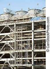 Refinery Factory - Assembling of liquefied natural gas...