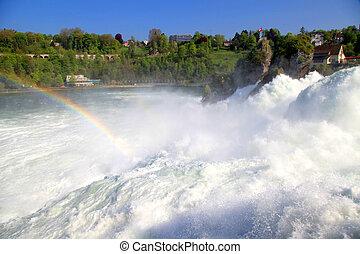 Famous Rhein Falls Schaffhausen, Switzerland - Famous Rhein...