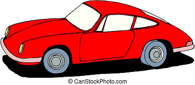 red car on isolated background