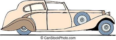 Vector retro car